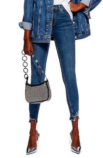 Topshop Jamie Rip Hem Jeans
