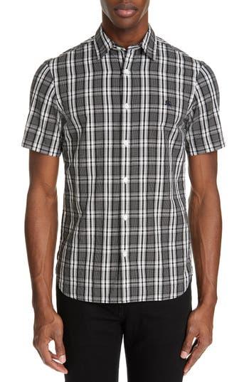 Burberry Heybridge Plaid Slim Fit Sport Shirt