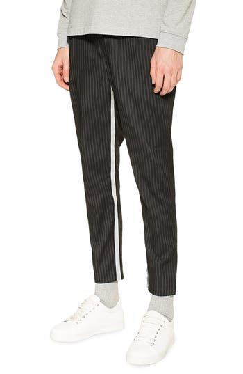 Topman Legue Pinstripe Cropped Jogger Pants