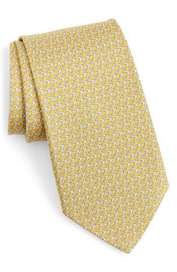 Salvatore Ferragamo Giugno Bird Print Silk Tie