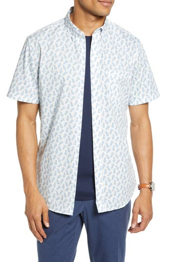 1901 Pineapple Print Cotton Sport Shirt