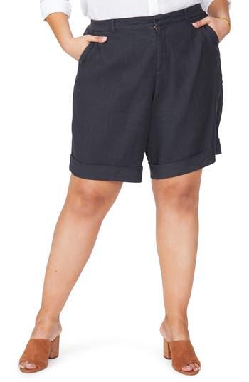 NYDJ Linen Bermuda Shorts