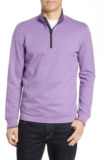 Robert Graham Garnet Classic Fit Quarter Zip Pullover