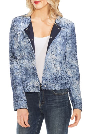 Vince Camuto Sequin Bomber Jacket