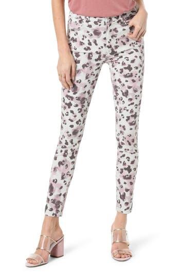 Joe's Charlie High Waist Ankle Skinny Jeans (Watercolor Leopard Blush)