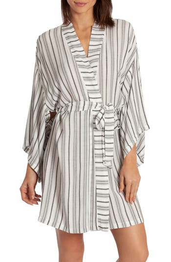 Midnight Bakery Jade Stripe Short Robe