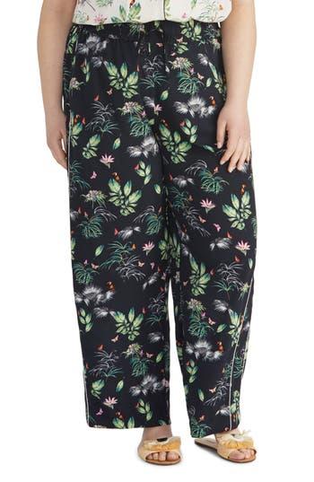 Rachel Roy Collection Tropical Print Wide Leg Pants (Plus Size)