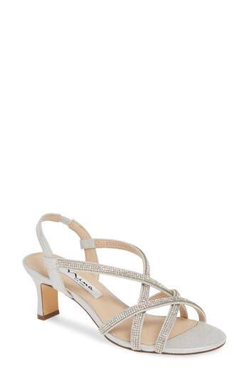 Nina Noni Crystal Embellished Slingback Sandal (Women)
