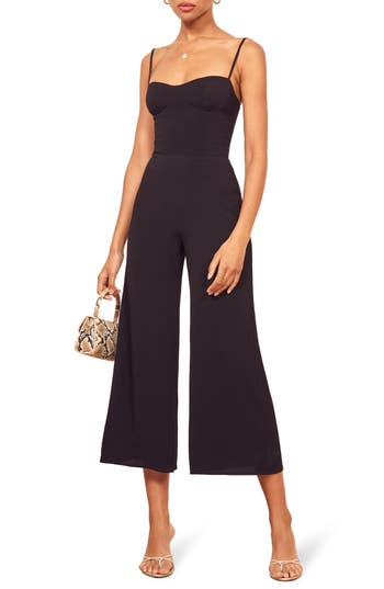 Reformation Gilda Crop Wide Leg Jumpsuit