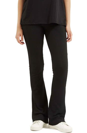 Topshop Ribbed Flare Pants