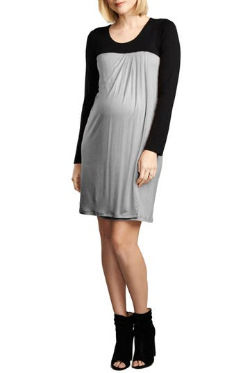 Maternal America Baby Doll Maternity/nursing Dress, Grey