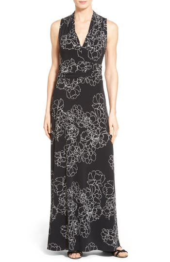 Vince Camuto Floral Print Jersey Maxi Dress