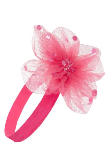 Plh Bows & Laces Tulle Flower Head Wrap