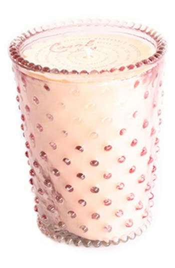 Simpatico Hobnail Glass Candle, Size One Size - Coral