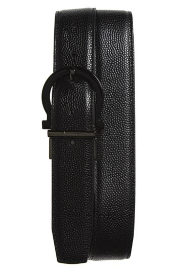 Men's Salvatore Ferragamo Reversible Calfskin Leather Belt