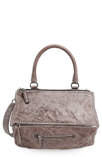 Givenchy 'Medium Pepe Pandora' Leather Satchel - Grey at NORDSTROM.com