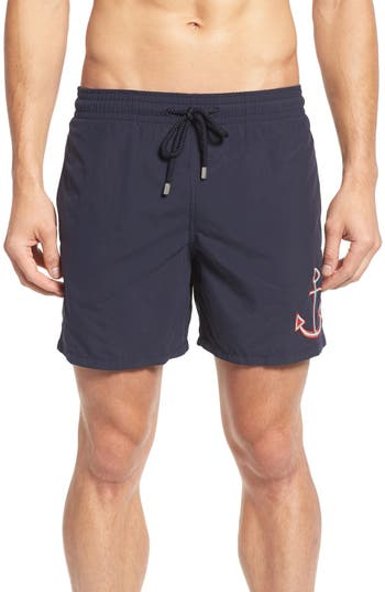 Vilebrequin Embroidered Anchor Swim Trunks