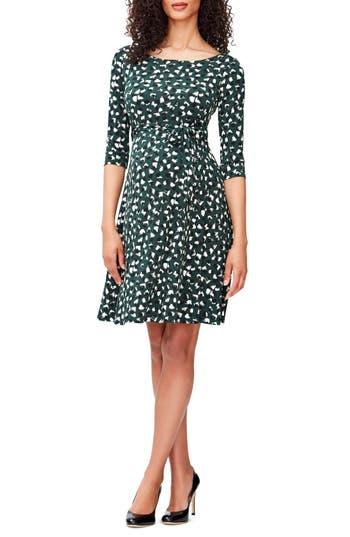 Women's Leota 'Ilana' Belted Maternity Dress, Size Small - Green
