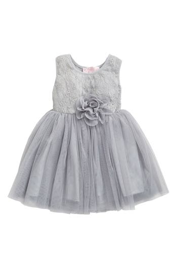 Infant Girls Popatu Floral Lace  Tulle Dress