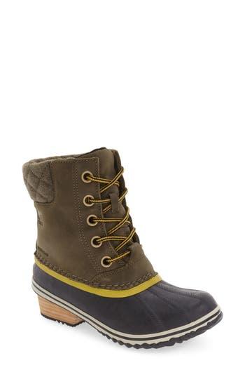 Sorel Slimpack Ii Waterproof Boot, Green