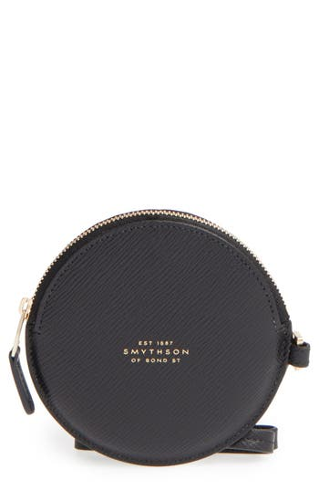 Women's Smythson Circle Leather Coin Purse -