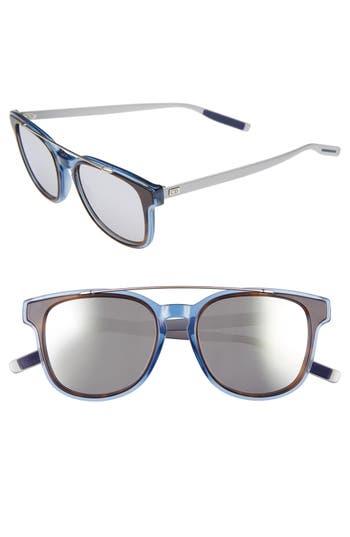 Men's Dior Homme 'Black Tie' 52Mm Sunglasses - Black Crystal Ruthenium