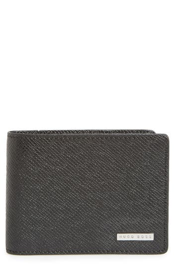 BOSS 'Signature' Bifold Calfskin Leather Wallet