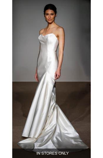 Anna Maier Couture Stefanie Strapless Silk Duchess Satin Mermaid Gown