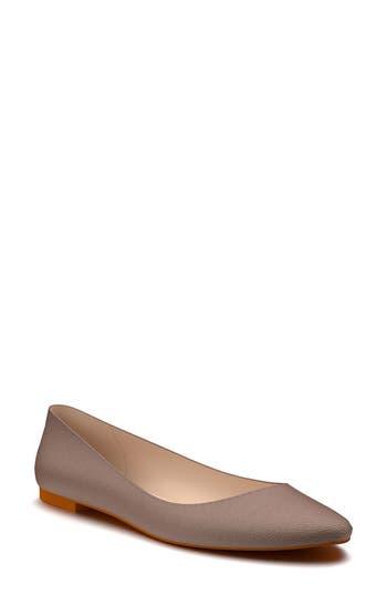 Shoes Of Prey Ballet Flat - Brown
