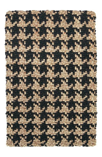 Villa Home Collection Houndstooth Rug, Size Swatch - Black