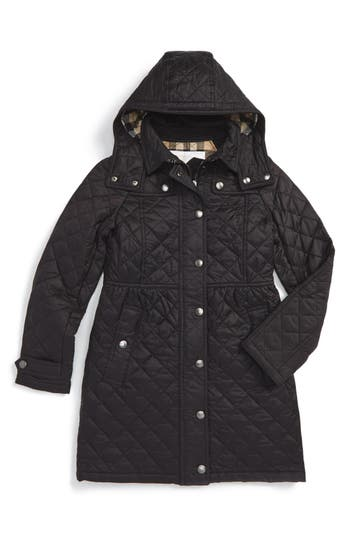 Girl's Burberry Foxmoore Quilted Coat