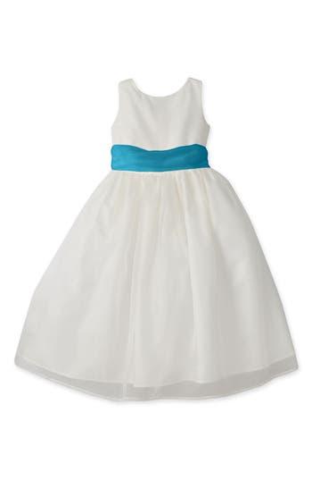 Girls Us Angels Sleeveless Organza Dress Size 12  Ivory