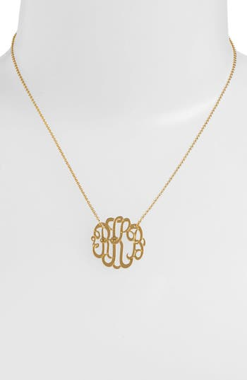 Women's Argento Vivo Personalized Small 3-Initial Letter Monogram Necklace (Nordstrom Exclusive)