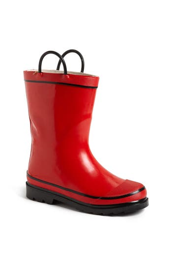 Kid's Western Chief 'Firechief 2' Rain Boot, Size 4 M - Red