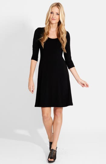 Karen Kane A-Line Jersey Dress, Black