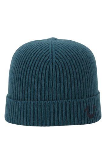 True Religion Brand Jeans Rib Knit Cap - Green