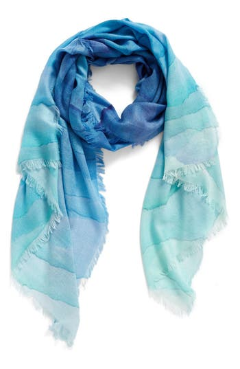 Women's Nordstrom Prismatic Color Play Cashmere & Silk Scarf
