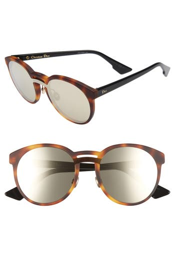 Dior Onde 1 50Mm Round Sunglasses - Havana/ Black