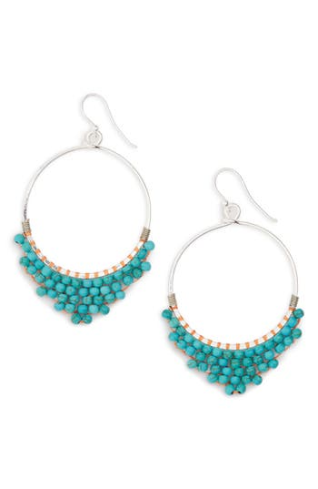 Women's Panacea Beaded Circle Earrings