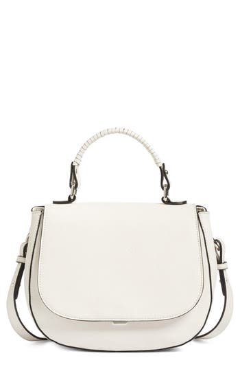 Chelsea28 Kyle Faux Leather Saddle Bag - Ivory