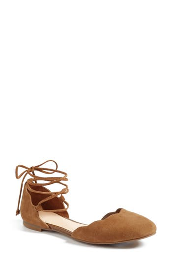 Bp. Sophie Lace-Up Flat, Brown