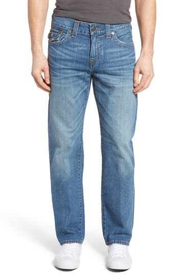 Big & Tall True Religion Brand Jeans Ricky Relaxed Fit Jeans, Blue