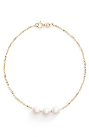 Women's Poppy Finch Triple Pearl Line Bracelet