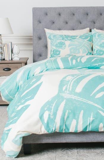 Deny Designs Linocut Monstera Duvet Cover & Sham Set