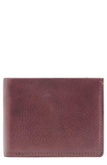 Jack Mason Leather & Denim Bifold Wallet -