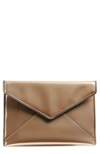 Rebecca Minkoff Leo Mirror Metallic Envelope Clutch -