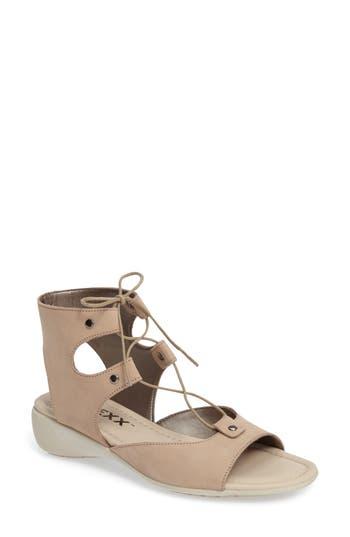 The Flexx Lace-Up Gladiator Sandal, Beige