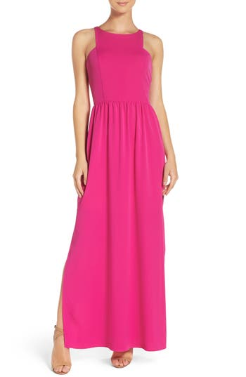 Chelsea28 Cutaway Shoulder Maxi Dress, Pink