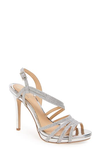 Jewel Badgley Mischka Humble Strappy Sandal- Metallic