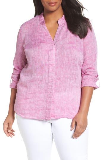 Plus Size Nic+Zoe Drifty Woven Linen Shirt